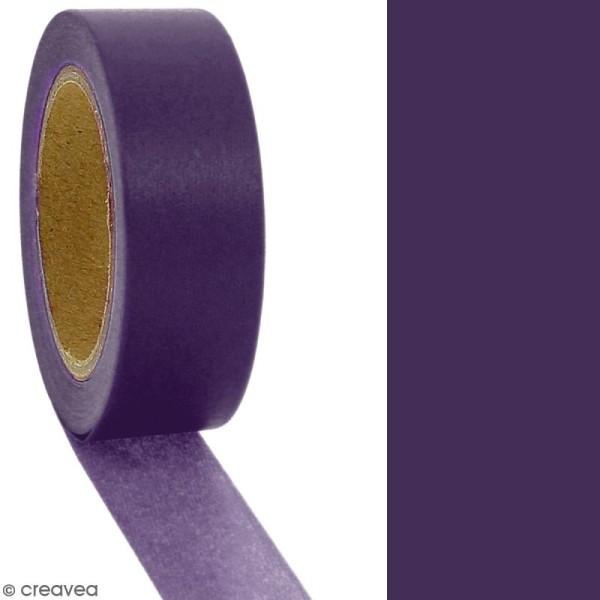 Masking tape Violet foncé uni - 1,5 cm x 10 m - Photo n°2