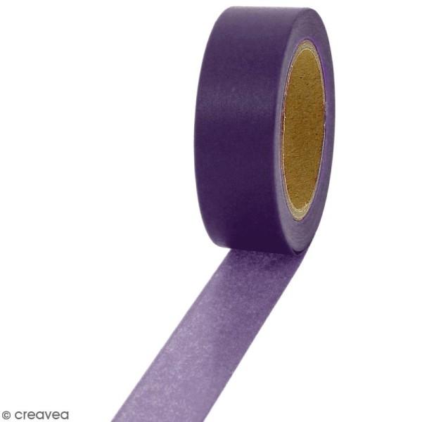 Masking tape Violet foncé uni - 1,5 cm x 10 m - Photo n°1