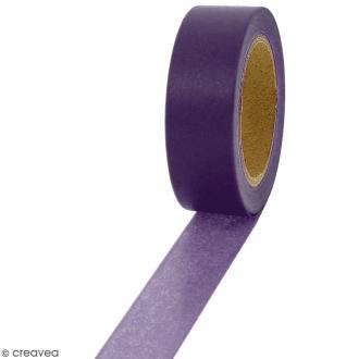 Masking tape Violet foncé uni - 1,5 cm x 10 m