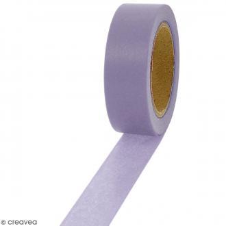 Masking tape Violet clair uni - 1,5 cm x 10 m