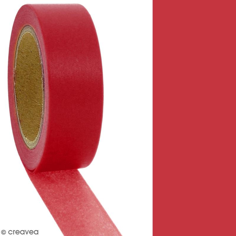 Masking tape Rouge bordeaux uni - 1,5 cm x 10 m - Photo n°2