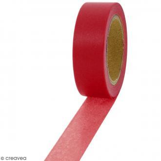 Masking tape Rouge bordeaux uni - 1,5 cm x 10 m