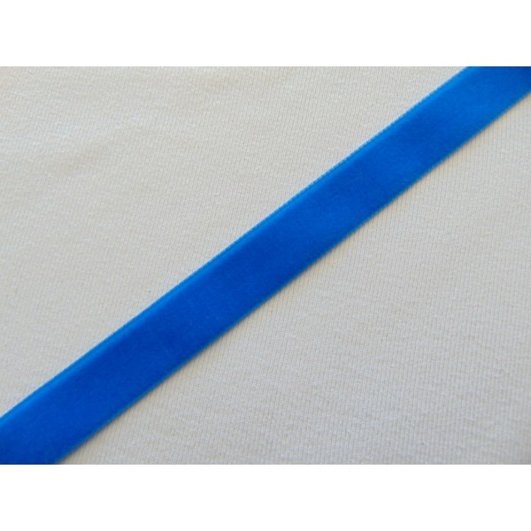 Ruban velours, bleu océan, au mètre - Photo n°1