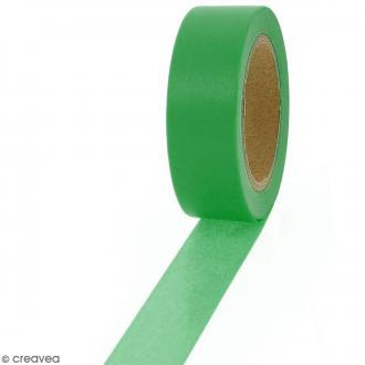 Masking tape Vert sinople uni - 1,5 cm x 10 m