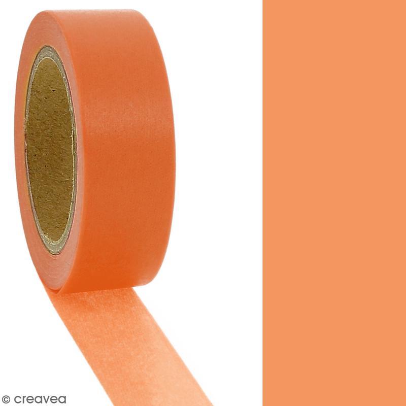Masking tape Orange citrouille - 1,5 cm x 10 m - Photo n°2