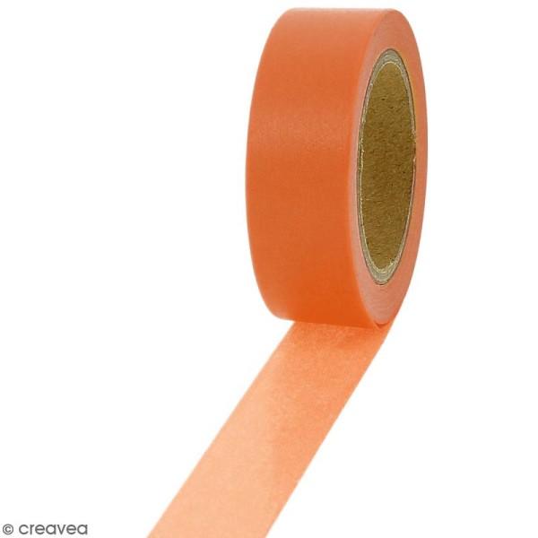 Masking tape Orange citrouille - 1,5 cm x 10 m - Photo n°1