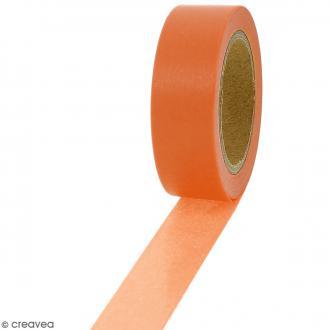 Masking tape Orange citrouille - 1,5 cm x 10 m