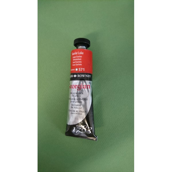 Peinture à l'huile Daler Rowney Laque Ecarlate 571 - Photo n°1