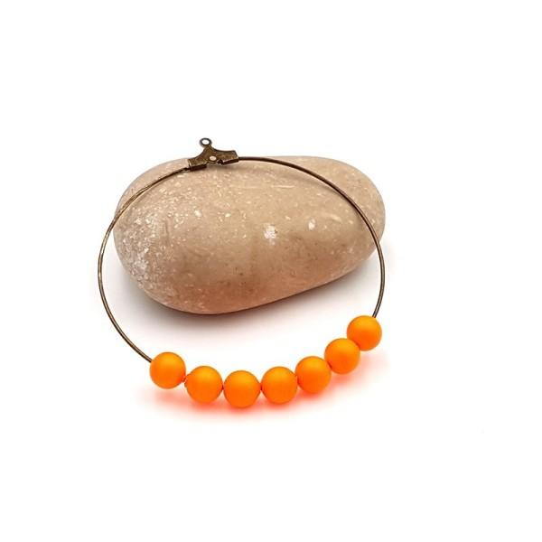 10 Perles Swarovski 6mm Crystal Neon Orange Pearl - Photo n°1