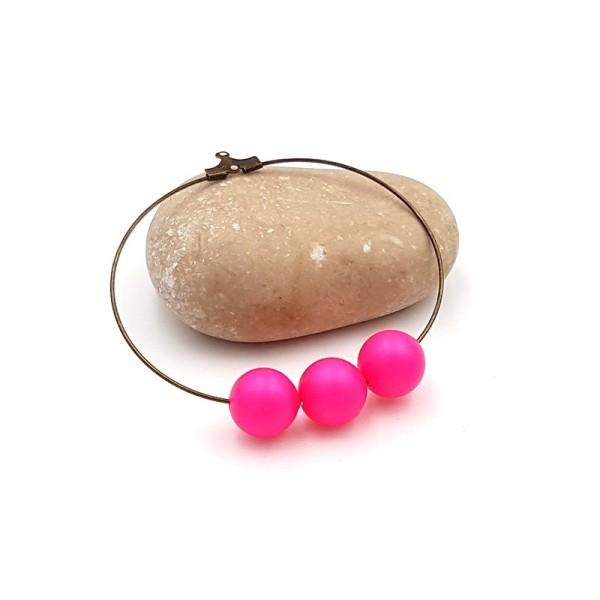 5 Perles Swarovski 10mm Crystal Neon Pink Pearl - Photo n°1