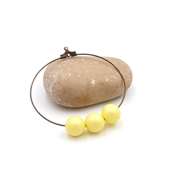 5 Perles Swarovski 10mm Pastel Yellow Pearl - Photo n°1