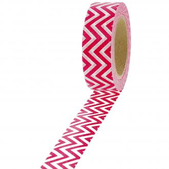 Masking tape Chevrons blancs et rouges - 1,5 cm x 10 m