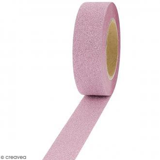 Masking tape Glitter Rose - Résistant - 1,5 cm x 10 m