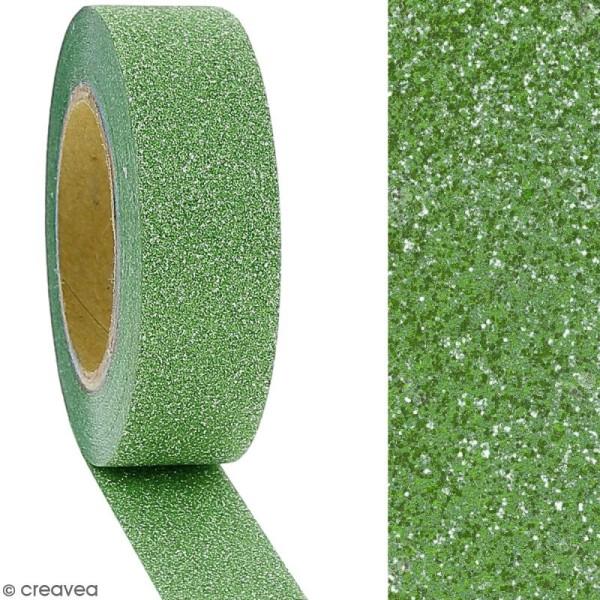 Masking tape Glitter Vert - Résistant - 1,5 cm x 10 m - Photo n°2
