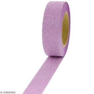Masking tape Glitter Violet - Résistant - 1,5 cm x 10 m