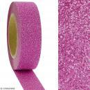 Masking tape Glitter Rose foncé - Résistant - 1,5 cm x 10 m - Photo n°2