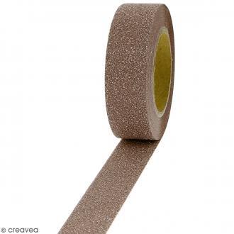 Masking tape Glitter Marron - Résistant - 1,5 cm x 10 m