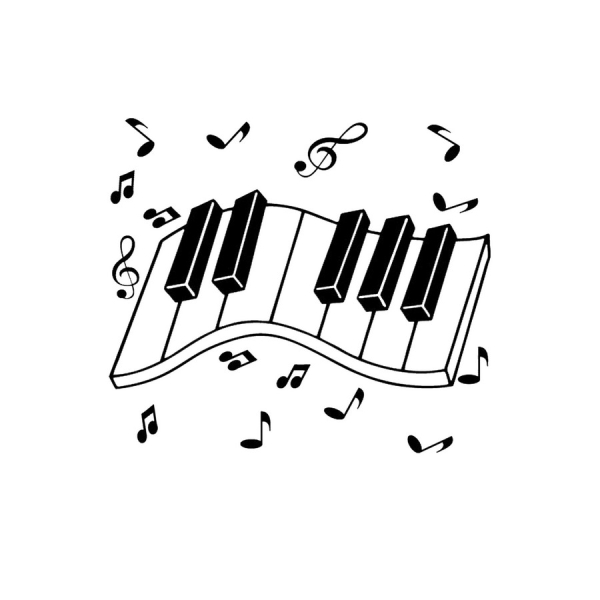 Flex Thermocollant Piano Musique - Photo n°1