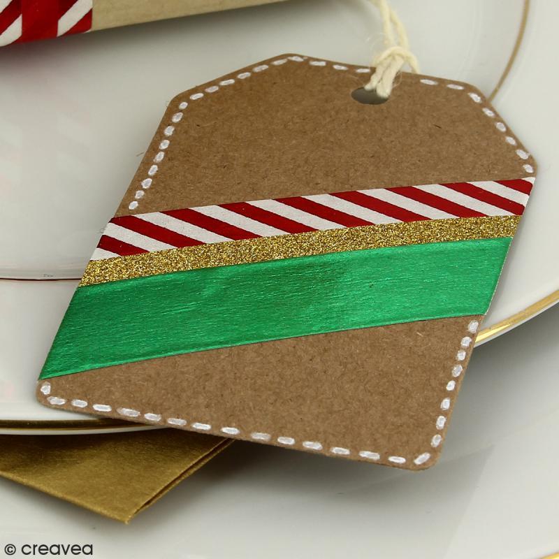 Assortiment Masking tape Glitter Slim - Couleurs vives - 0,5 cm x 10 m - 6 pcs - Photo n°2