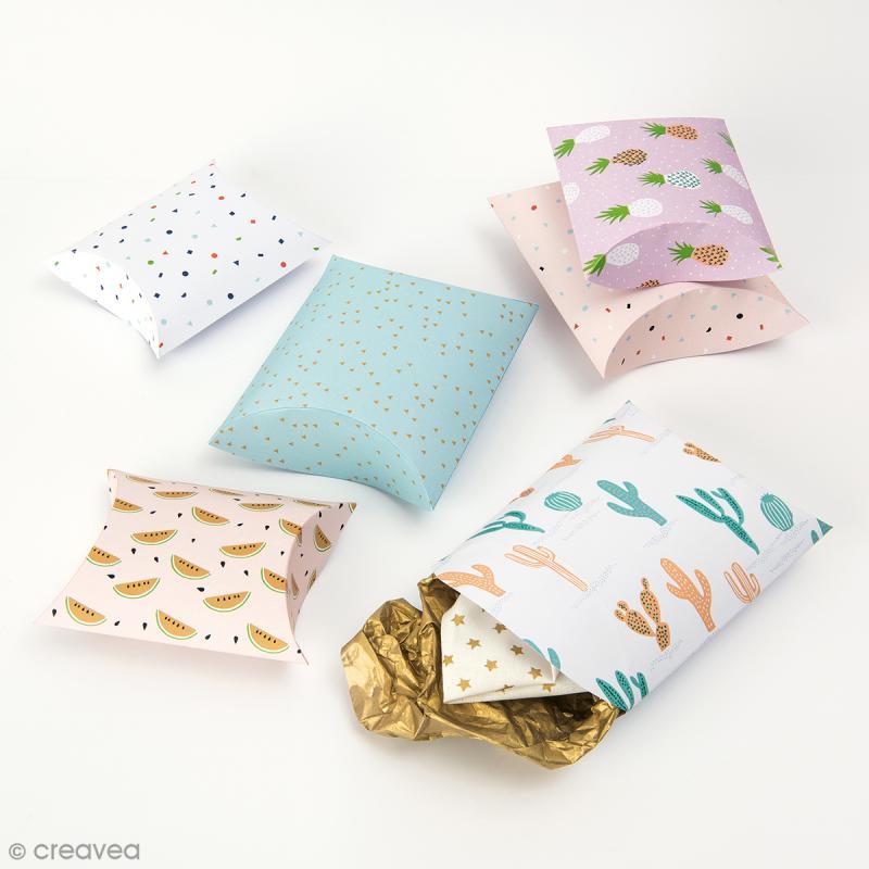 Pochettes cadeaux Tropical Spring - 2 tailles - 6 pcs - Photo n°2