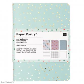 Carnets Bloc-Notes Tropical Spring 10,5 x 14 cm - 3 pcs