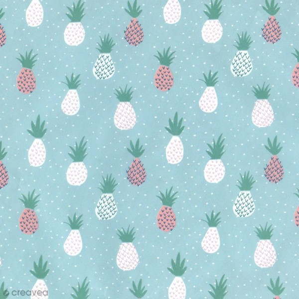 Papier Paper patch Tropical Spring - Ananas menthe - 30 x 40 cm - Photo n°2