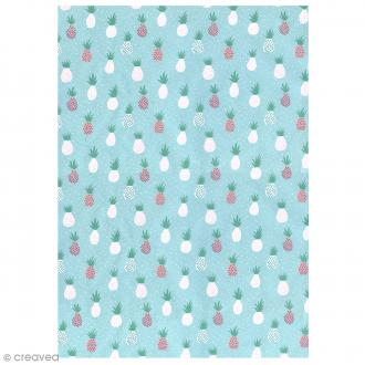 Papier Paper patch Tropical Spring - Ananas menthe - 30 x 40 cm