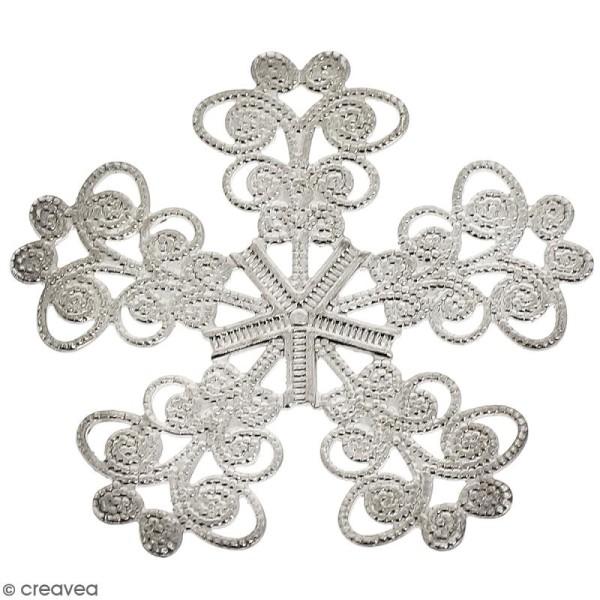 Estampe métal grise Fleur 5 pétales - 33 mm de diamètre - Photo n°1