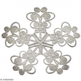 Estampe métal grise Fleur 5 pétales - 33 mm de diamètre
