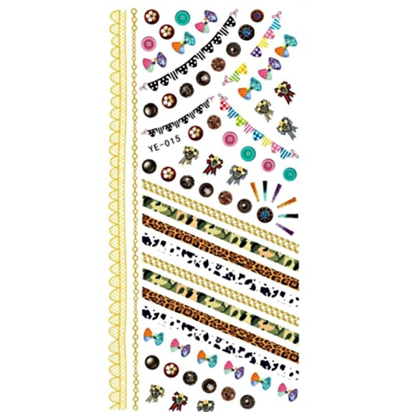 1 Feuille de Vacances de Guirlandes de Modèles 3d Nail Art autocollant Autocollants Stickers Appliqu - Photo n°1