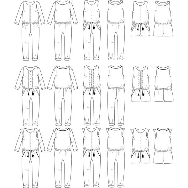 Patron Combi-short, combi pantalon ou robe MARIEKE FEMME by Ikatee du 34 au 46 - Photo n°3