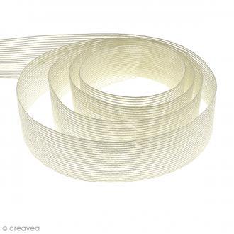Ruban de jute 40 mm Blanc - Au mètre (sur mesure)