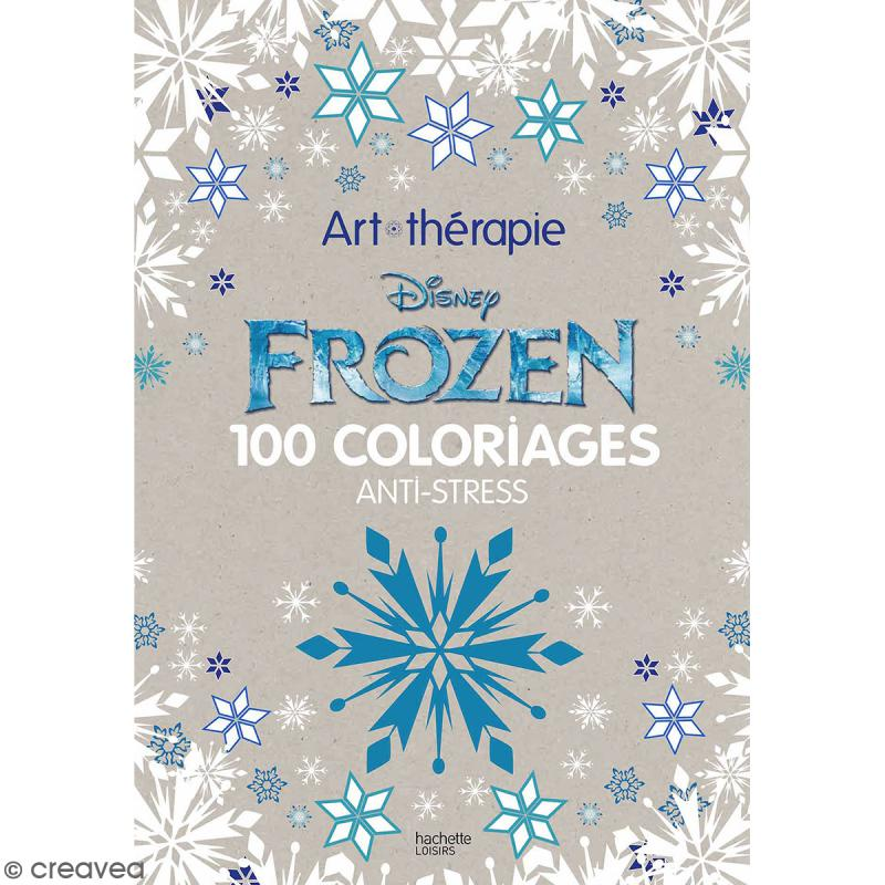 livre coloriage adulte anti stress a4 frozen reine des neiges 100 coloriages - Livre De Coloriage Anti Stress
