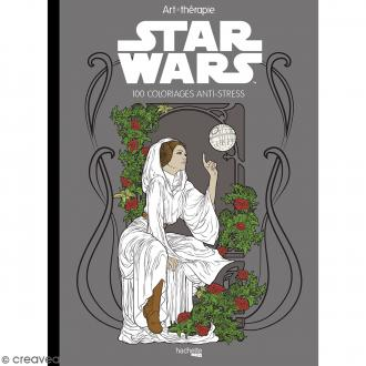 Livre coloriage adulte anti-stress - A4 - Star Wars - 100 coloriages