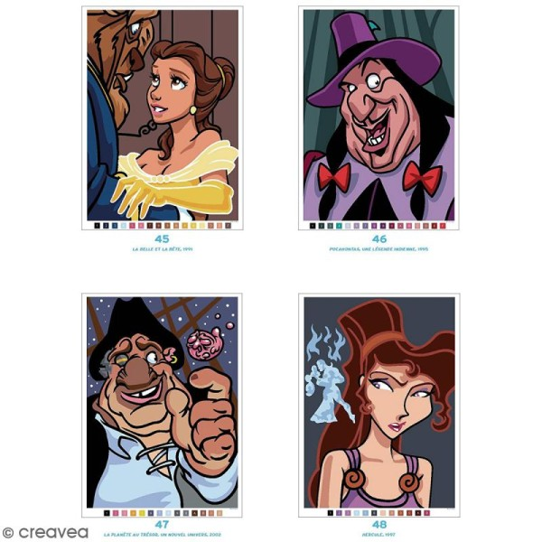 Livre Coloriage Adulte A4 Mysteres Classiques Disney 100 Coloriages Au Numero