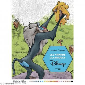 Livre coloriage adulte - A4 - Mystères classiques Disney - 100 coloriages au numéro