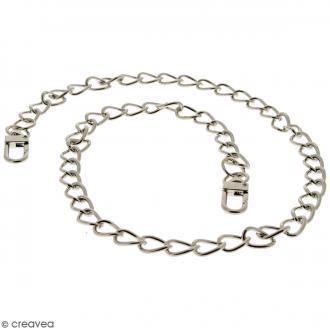 Anse Mia pour sac à main - Chaine grise argentée - 10 mm x 70 cm