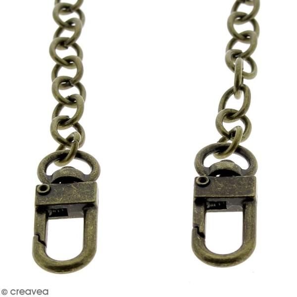 Anse Leandra pour sac à main - Chaine laiton antique - 7 mm x 88 cm - Photo n°3