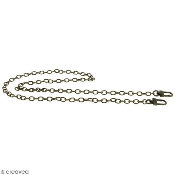 Anse Leandra pour sac à main - Chaine laiton antique - 7 mm x 88 cm - Photo n°5
