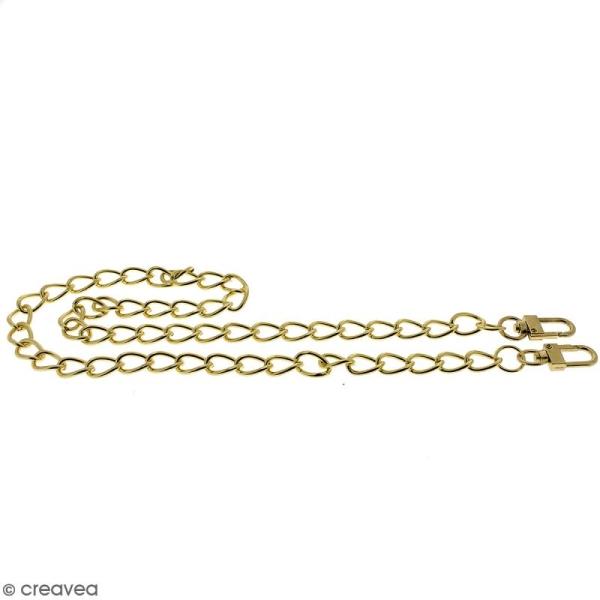 Anse Kate pour sac à main - Chaine dorée - 10 mm x 70 cm - Photo n°5