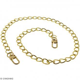 Anse Kate pour sac à main - Chaine dorée - 10 mm x 70 cm