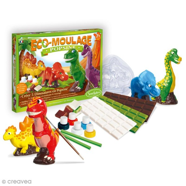 Coffret Eco-moulage Popsine - Dinosaures - Photo n°2