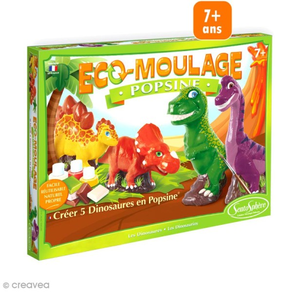 Coffret Eco-moulage Popsine - Dinosaures - Photo n°1
