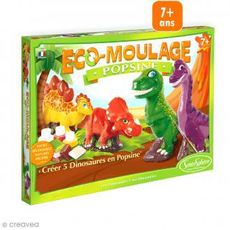 Coffret Eco-moulage Popsine - Dinosaures