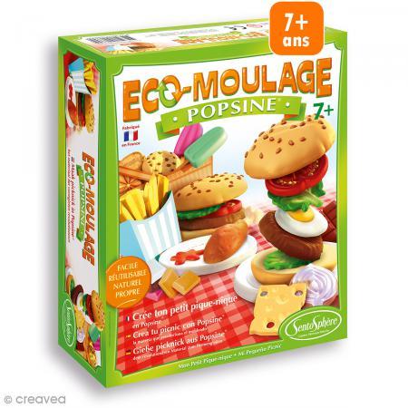 coffret eco-moulage popsine - mon petit pique-nique - moulage