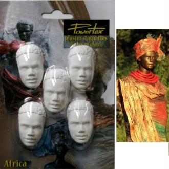 Tête Africain x 5