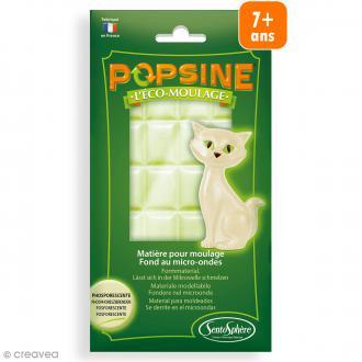 Recharge Eco-moulage Popsine - Blanc phosphorescent - 110 g