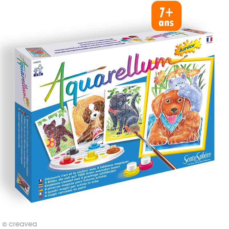 Jeu créatif Aquarellum - Chiots - Tableaux aquarellum