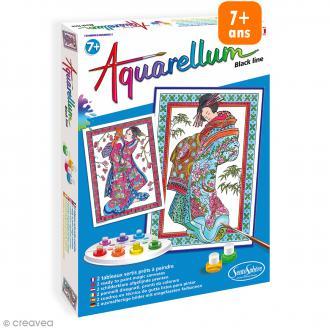Jeu créatif Aquarellum - Black line Estampes Japonaises