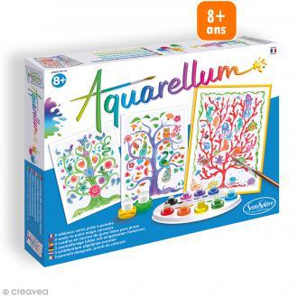 Jeu créatif Aquarellum - Arbres de vie